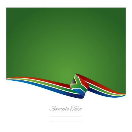 Abstract color background South African flag Illustration