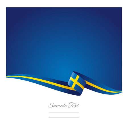 sweden flag: Abstract color background Sweden flag Illustration