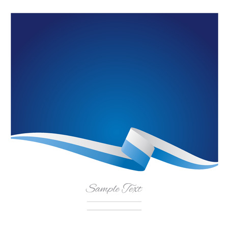 blue wave: Abstract color background San Marino flag