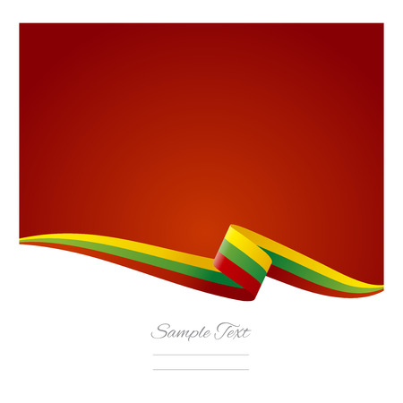 lithuanian: Abstract color background Lithuanian flag Illustration