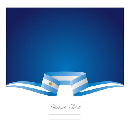 Abstract background Argentinean flag ribbon Vector