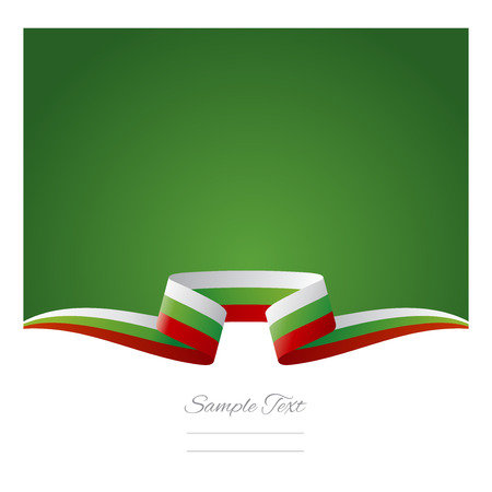 bulgarian: Abstract background Bulgarian flag ribbon