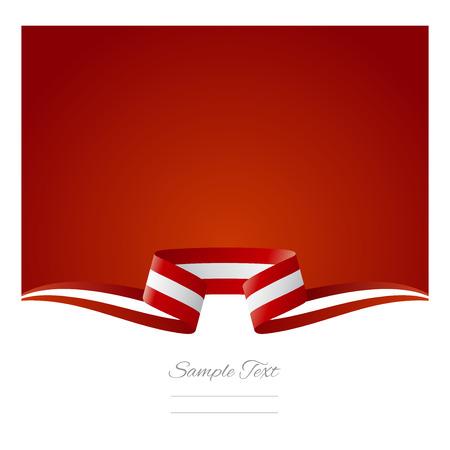 austrian flag: Abstract background Austrian flag ribbon