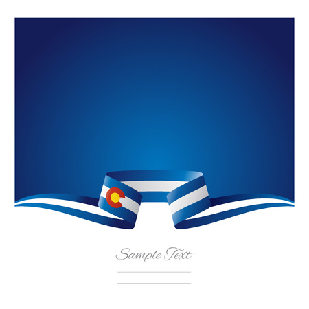 colorado: Abstract background Colorado flag ribbon