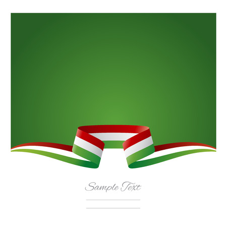 Abstract background Hungarian flag ribbon Vector
