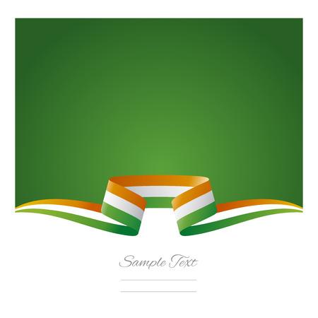 ireland flag: Abstract background Irish flag ribbon