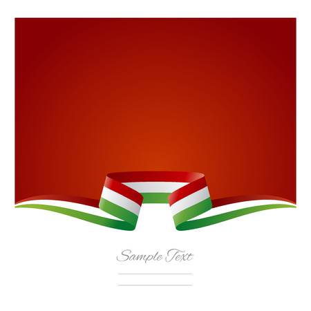 Abstract background Italian flag ribbon Vector
