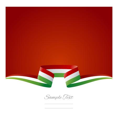 Abstract background Italian flag ribbon