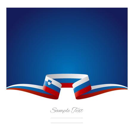 slovenian: Abstract background Slovenian flag ribbon