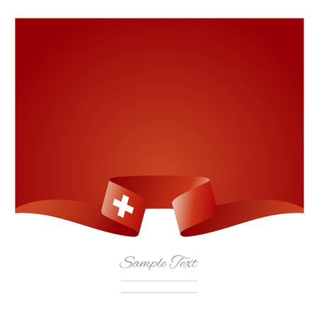 swiss flag: Abstract background Swiss flag ribbon