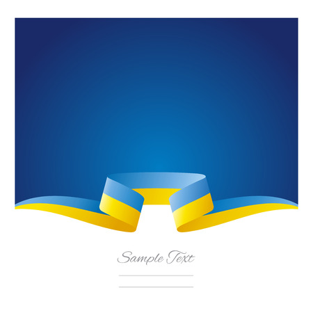 ukrainian: Abstract background Ukrainian flag ribbon