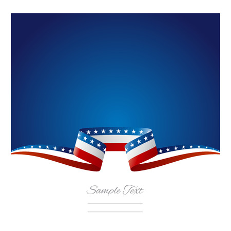 Abstract background USA flag ribbon Ilustração