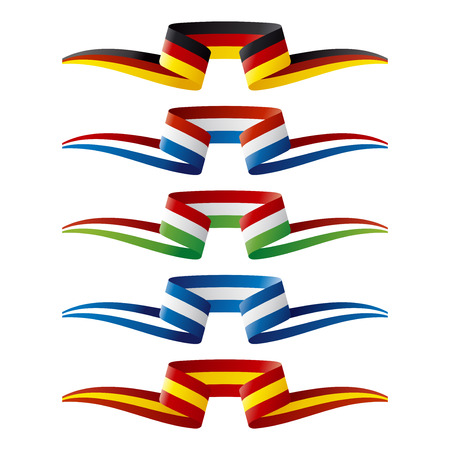 Abstract color Europe flags ribbon
