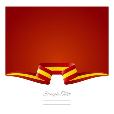 bandiera spagnola: Astratto sfondo rosso bandiera spagnola nastro