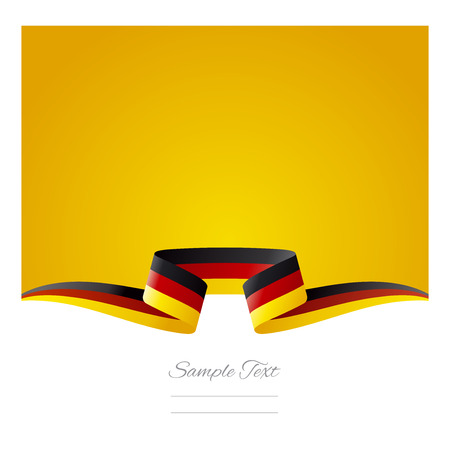 Abstrakter gelber Hintergrund Deutsch Flagge Band Standard-Bild - 30794115