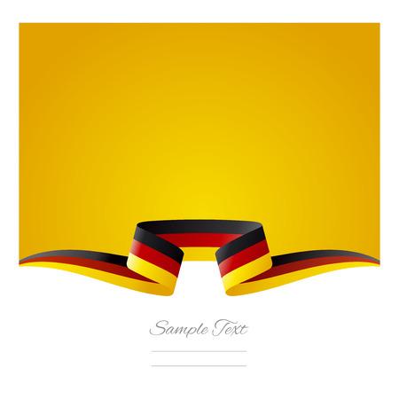 Abstract yellow background German flag ribbon Illustration