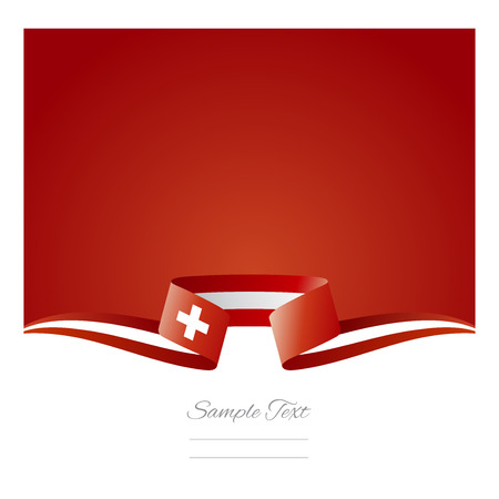 switzerland flag: Abstract background Switzerland flag ribbon