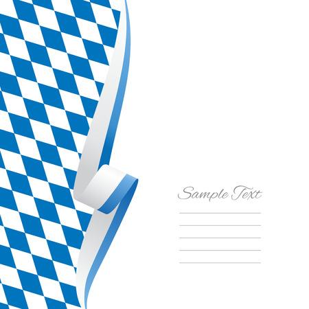 Bavarian left side brochure cover vector Vector