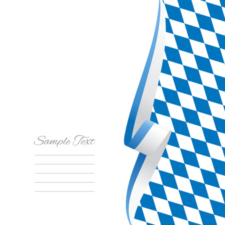 Bavarian right side brochure cover vector