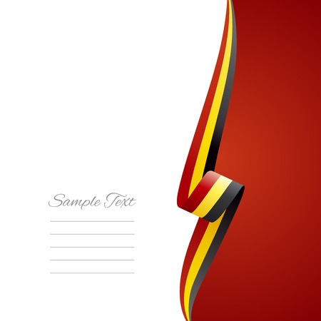 right side: Belgian right side brochure cover vector