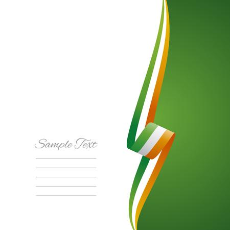 Irish right side brochure cover vector Vector