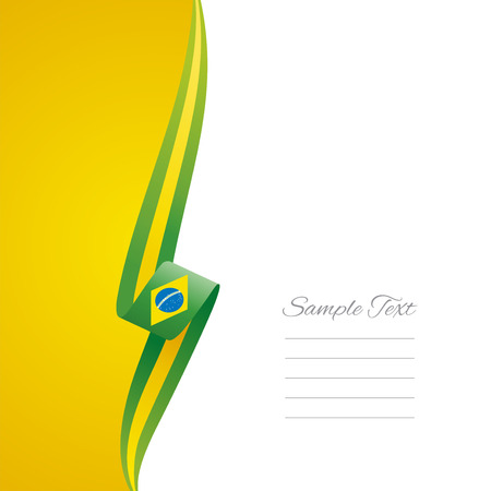 Brazilian left side brochure cover vector Vector