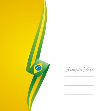 brazil symbol: Brazilian left side brochure cover vector