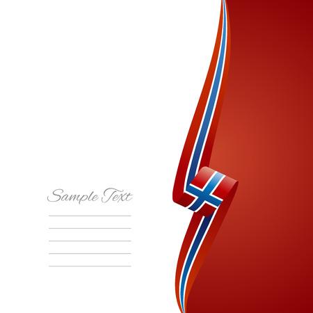 Norwegian right side brochure cover vector Vector