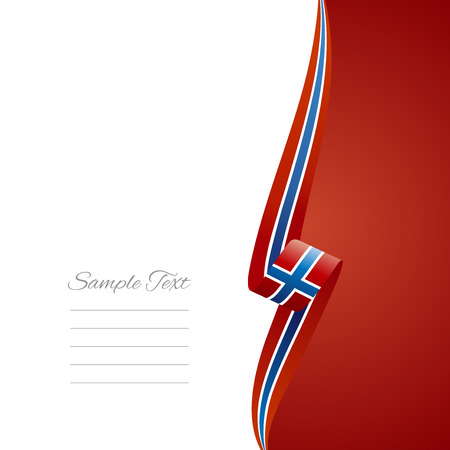 Norwegian right side brochure cover vector