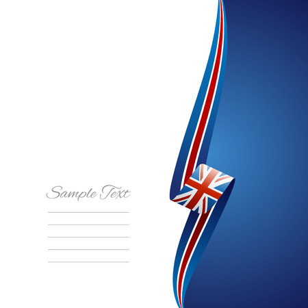 right side: UK right side brochure cover vector Illustration