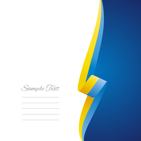ukrainian: Ukrainian right side brochure cover vector Illustration