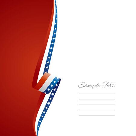USA left side brochure cover vector Illustration