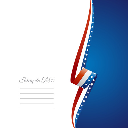 USA right side brochure cover vector Vector