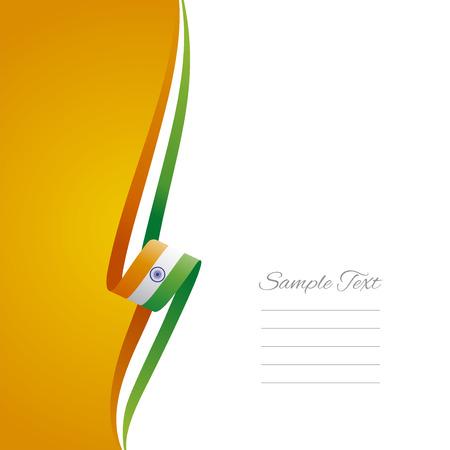 Indian left side brochure cover vector Vector
