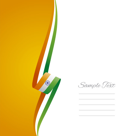 Indian left side brochure cover vector