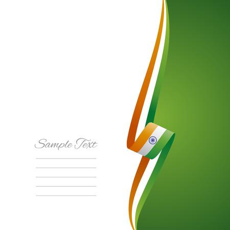 bandera de la india: Lado derecho de la India cubierta del folleto del vector