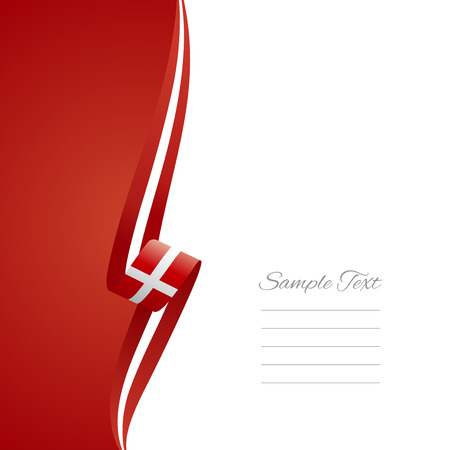 Danish left side brochure cover vector