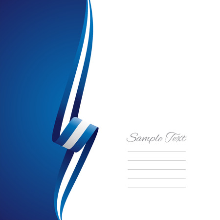 greece flag: Greek left side brochure cover vector