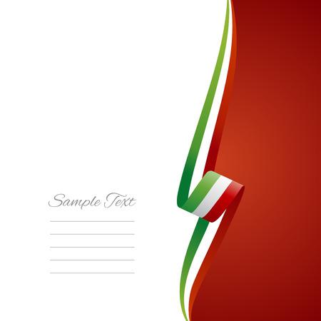 Italian right side brochure cover vector