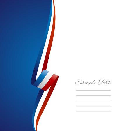 French left side brochure cover vector