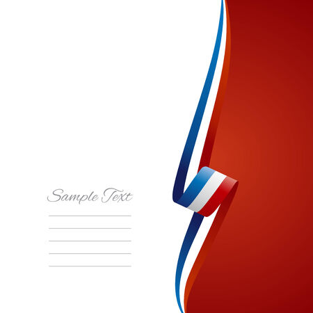 right side: French right side brochure cover vector