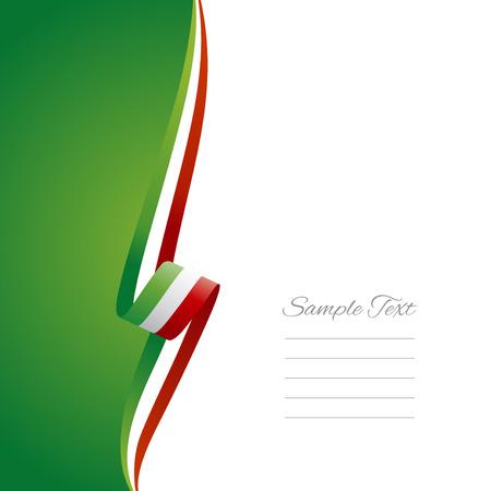 イタリアの左サイドのパンフレット表紙ベクトル  イラスト・ベクター素材