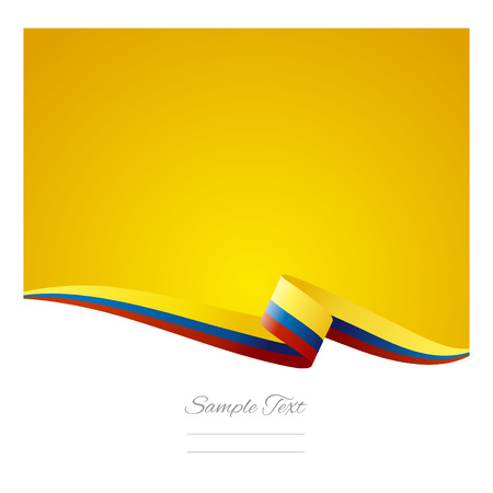 greeting card background: Abstract color background Colombian flag vector