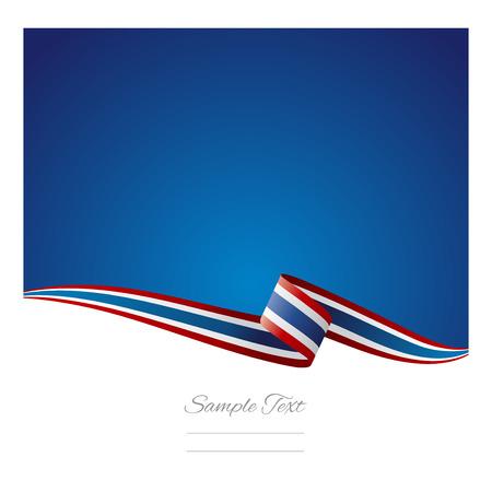 추상적 인 색 배경 태국 국기 벡터