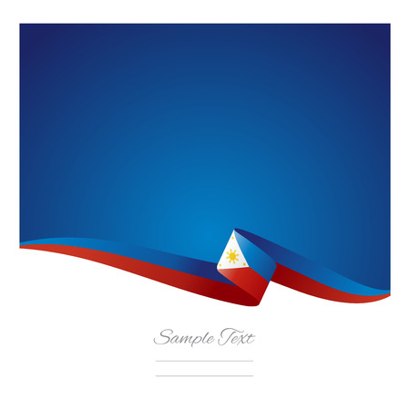 Abstract color background Philippine flag vector Vector