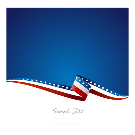 graphics: American flag ribbon abstract color background vector Illustration