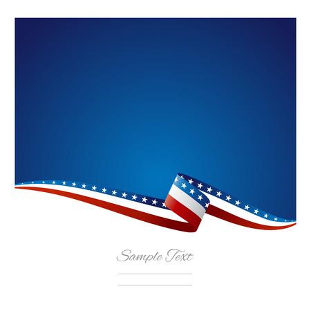 amerikalılar: Amerikan bayrağı şerit soyut renkli arka plan vektör