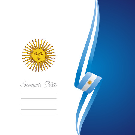 argentinean: Argentinean right side brochure cover vector