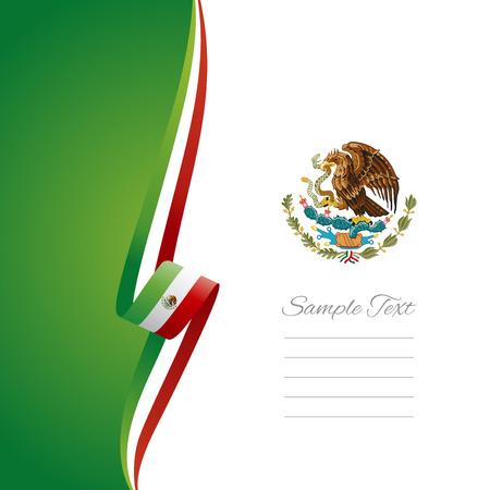 drapeau mexicain: Couverture de la brochure vecteur mexicaine de gauche