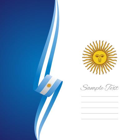 Argentina lado izquierdo portada del folleto de vectores Foto de archivo - 31288502